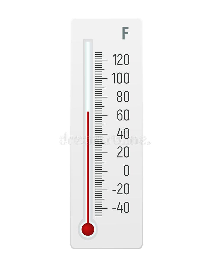 Thermometer in graden Fahrenheit royalty-vrije illustratie