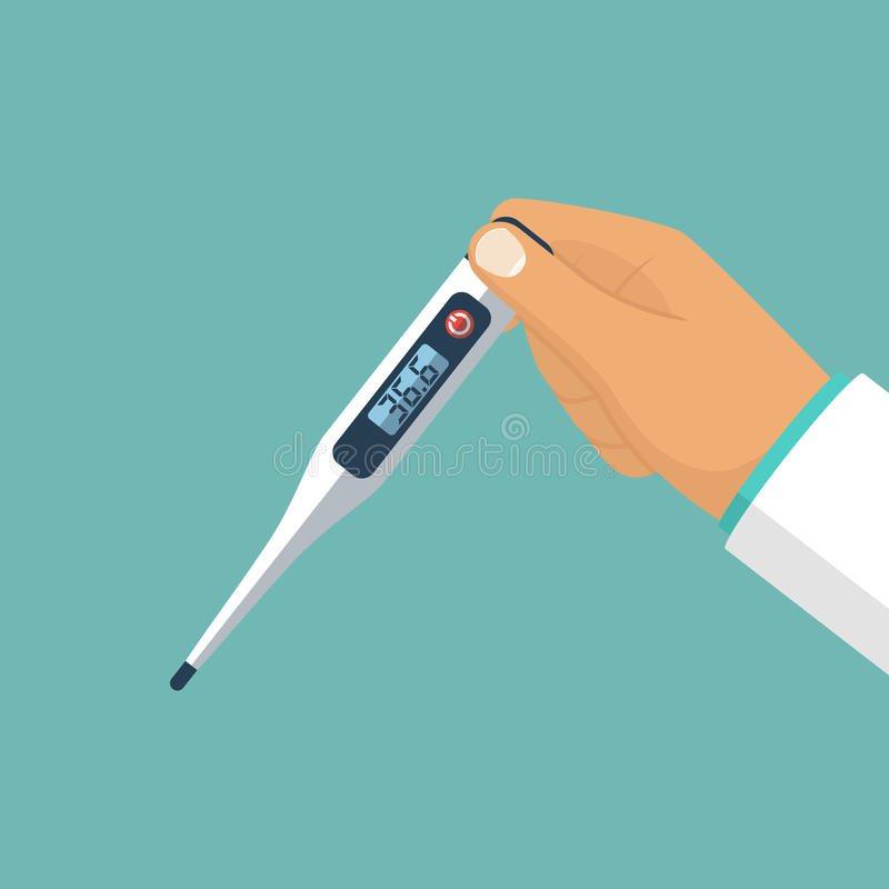 Thermometer in hand vector vector illustration
