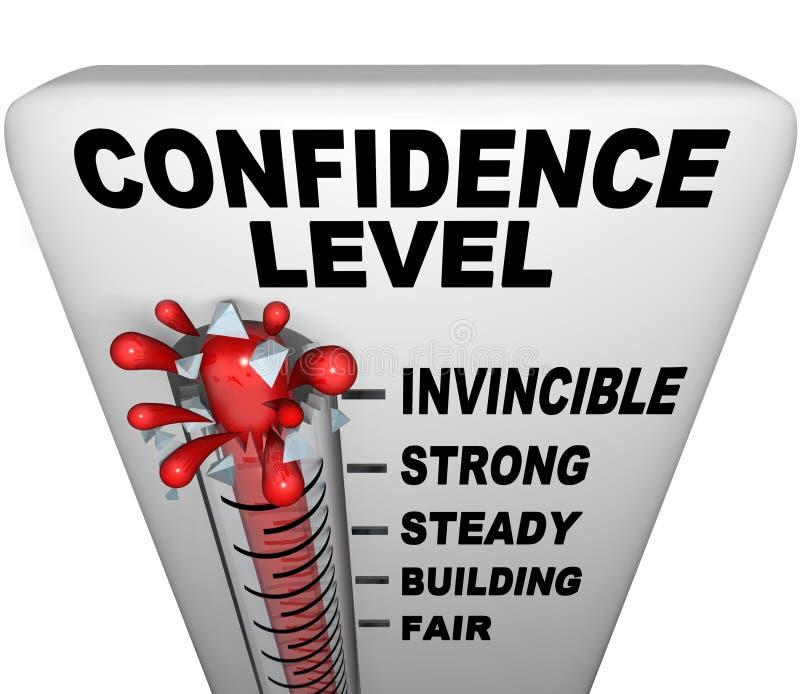 Thermometer - het Niveau van het Vertrouwen stock illustratie
