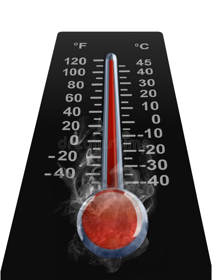 Download Thermometer With High Tempreture Stock Illustration - Illustration of overheating, season: 23636693