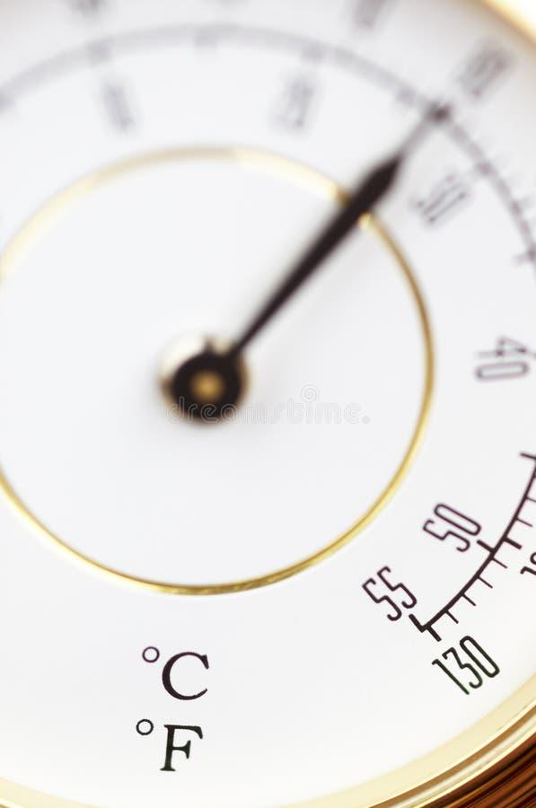 Thermometer im Makro stockbilder