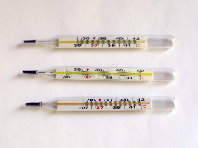 Thermometer for measuring the temperature of the human body. Virus. Infection royalty free stock images