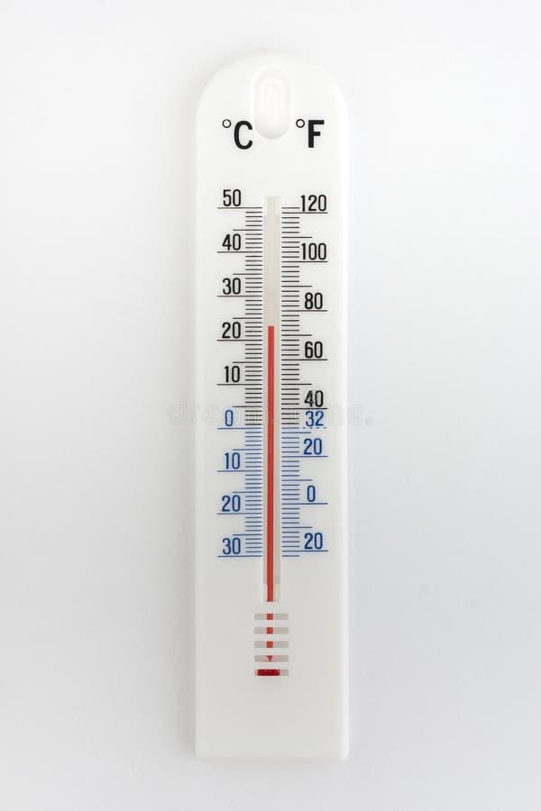 Thermometer op witte achtergrond royalty-vrije stock afbeeldingen