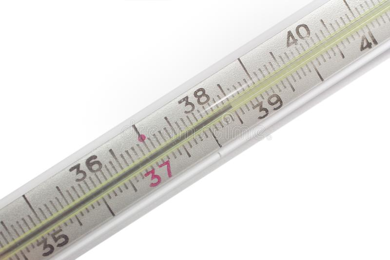 Thermometer show high temperature royalty free stock photography