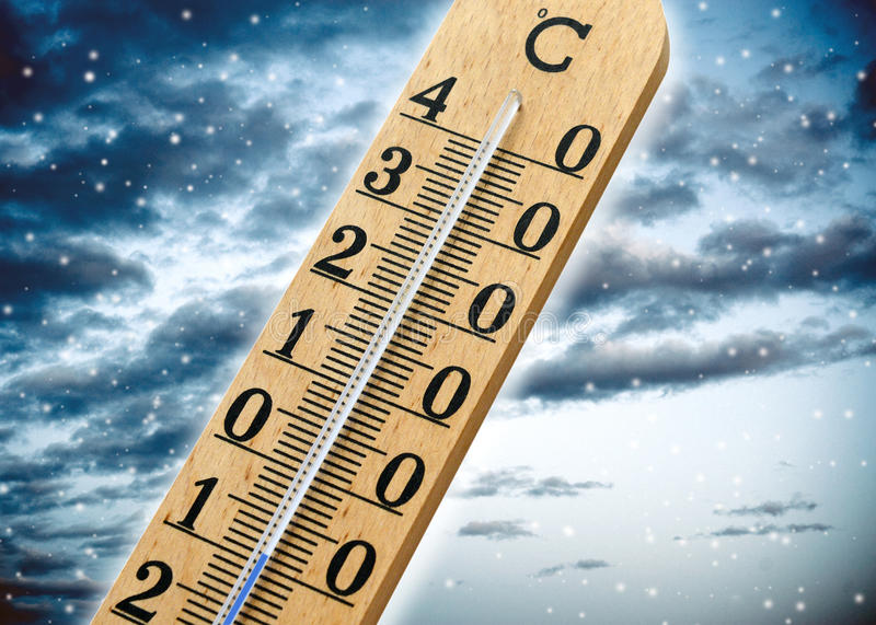 Thermometer Showing Cold Weather Royalty Free Stock Photo