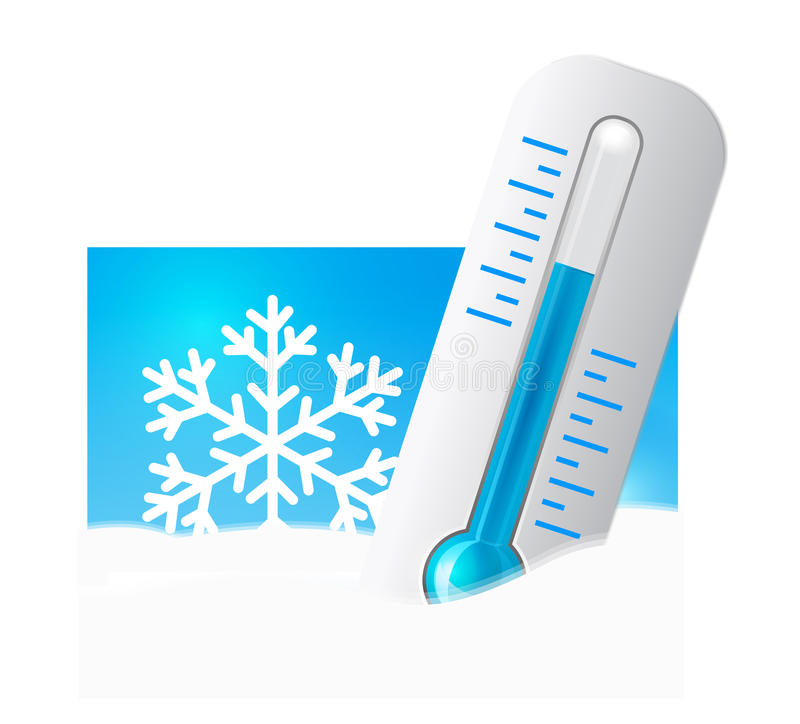 Download Thermometer in the snow stock vector. Image of blue, change - 23090880
