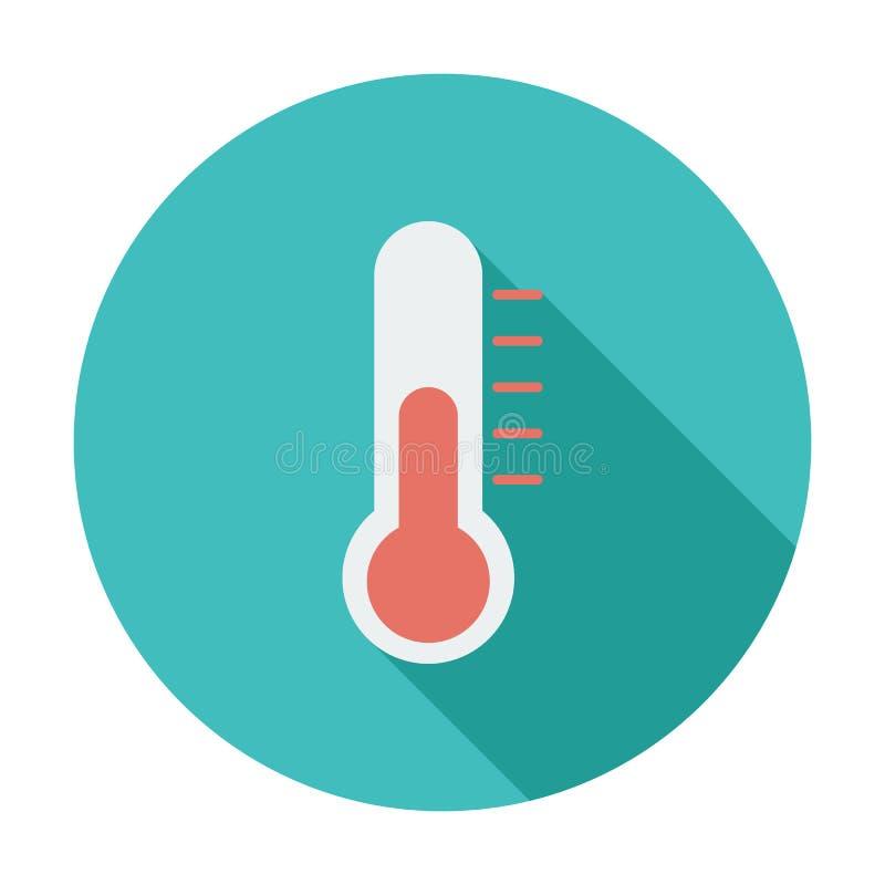 Thermometer vlak pictogram vector illustratie