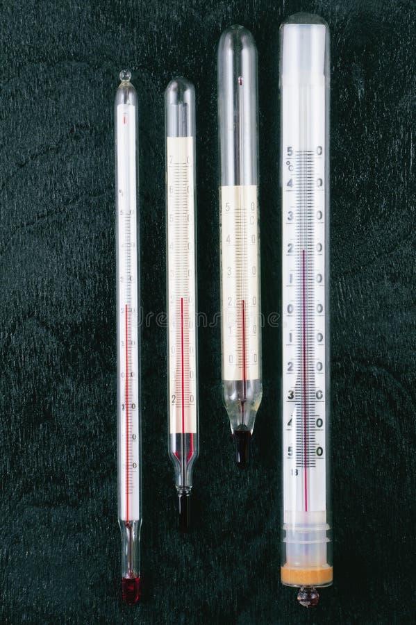 Thermometer voor het meten van de kamertemperatuur stock afbeelding