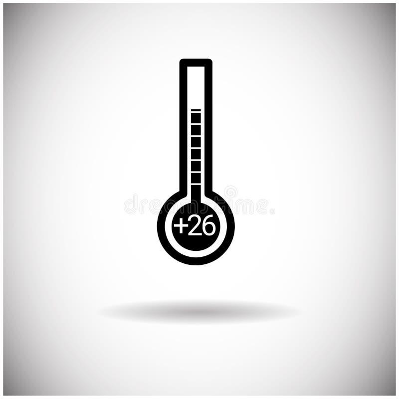 Thermometer-Wetter-Temperatur-Indikatorikone lizenzfreie abbildung