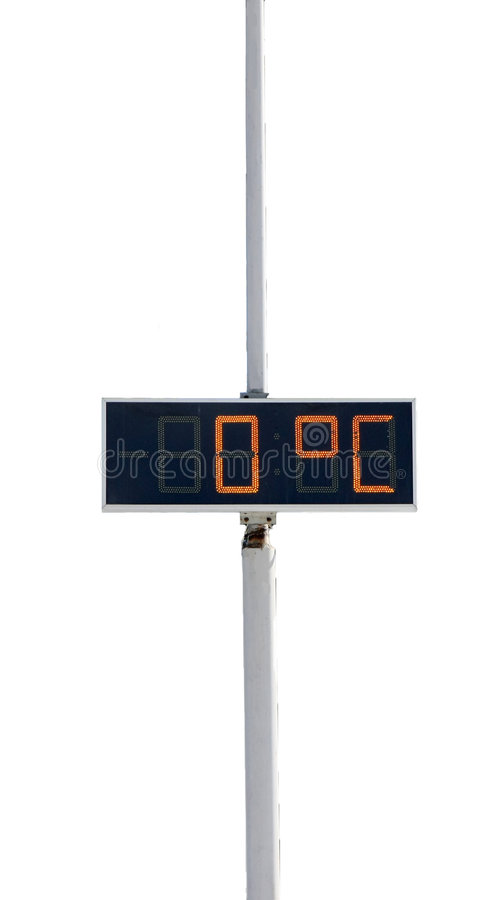 Thermometer (zero) stock images