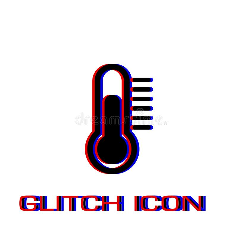 Thermometerikone flach lizenzfreie abbildung
