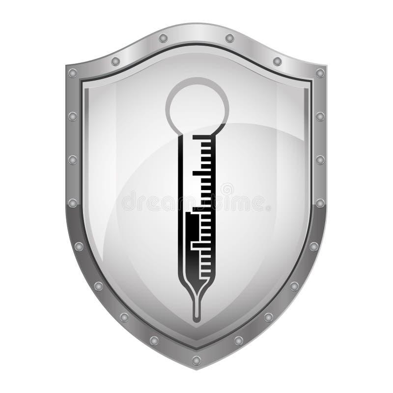 Thermometermedische apparatuur stock illustratie