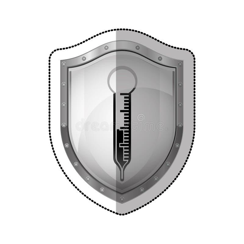 Thermometermedische apparatuur vector illustratie