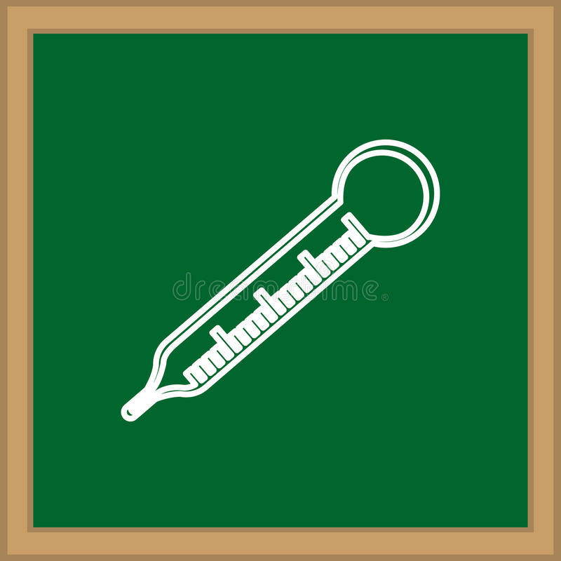 Thermometermedische apparatuur royalty-vrije illustratie