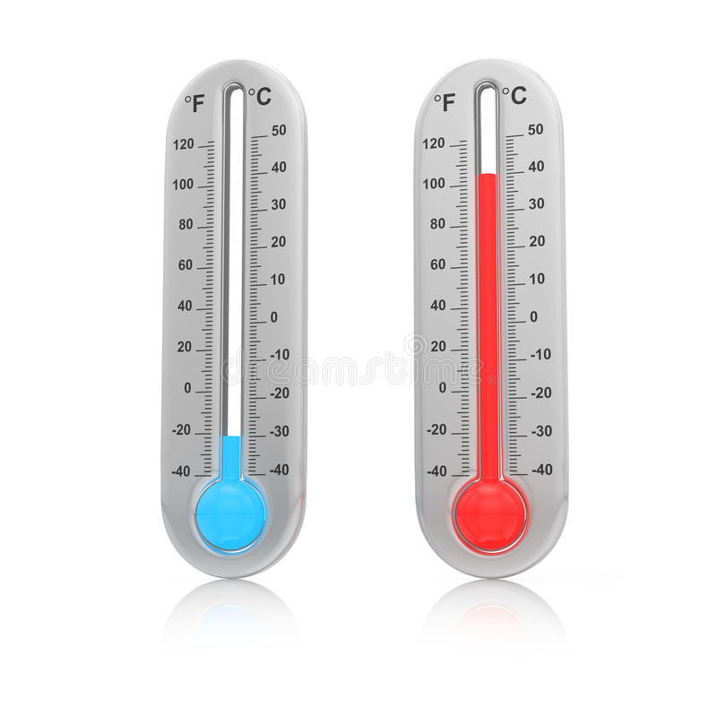 Download Thermometers set stock illustration. Image of season - 32436941