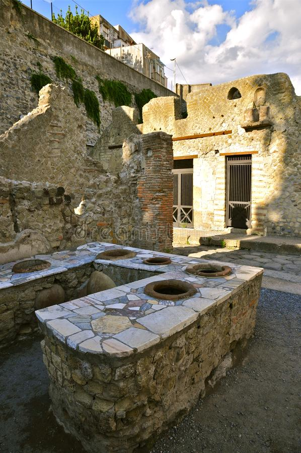 Thermopolium, Herculanum photographie stock