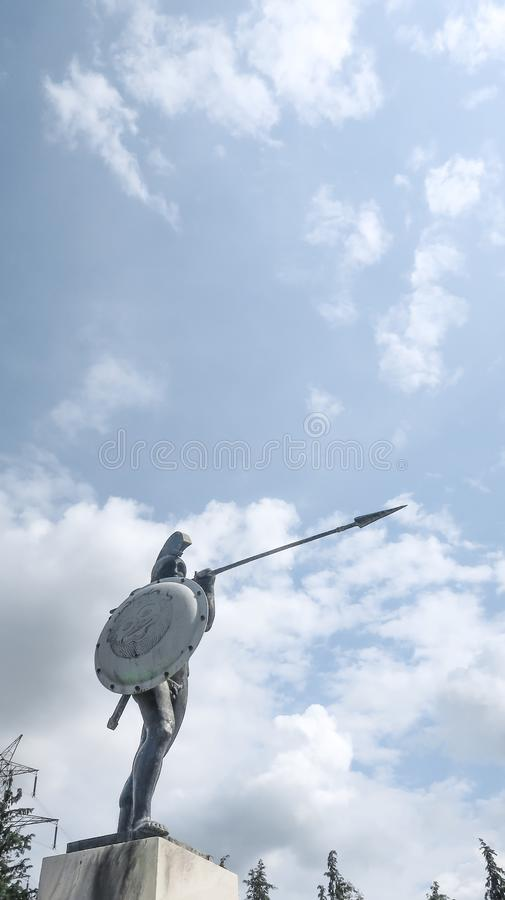 Thermopylae eller Leonidas Monument arkivfoto