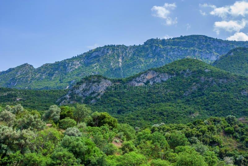 Thermopylae przejście w Grecja zdjęcia stock