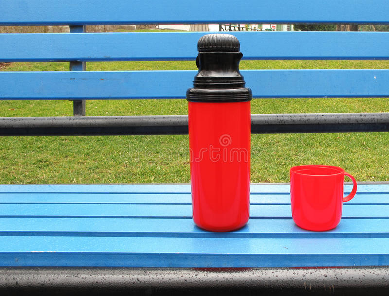 Download Thermos stock image. Image of blue, flask, airtight, container - 12356731
