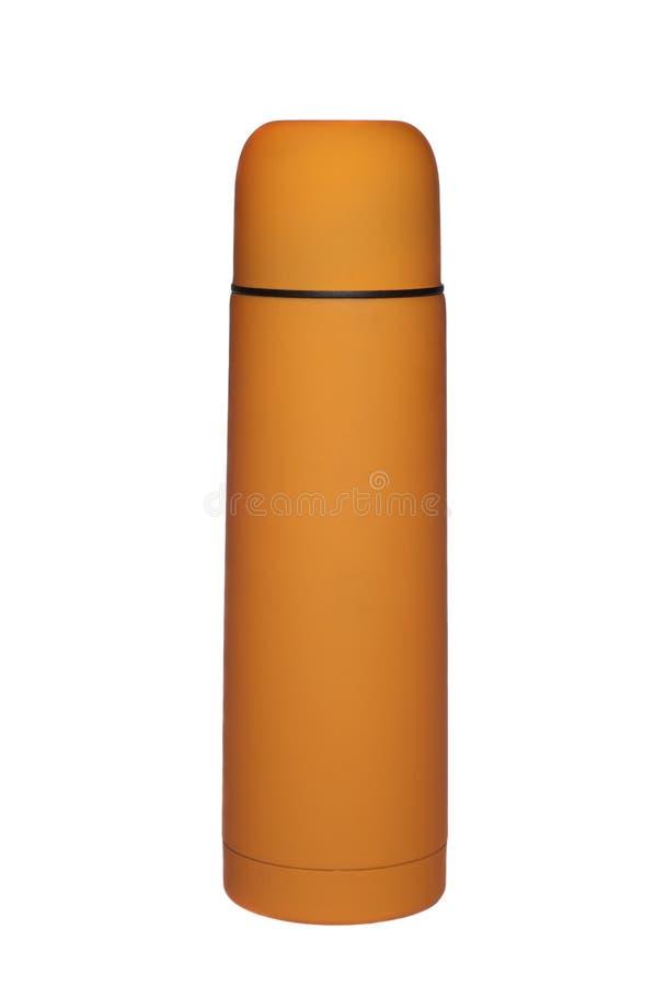 Thermos anaranjado foto de archivo