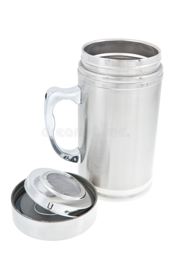 Download Thermos cup. stock image. Image of aluminum, dinner, heat - 23875431
