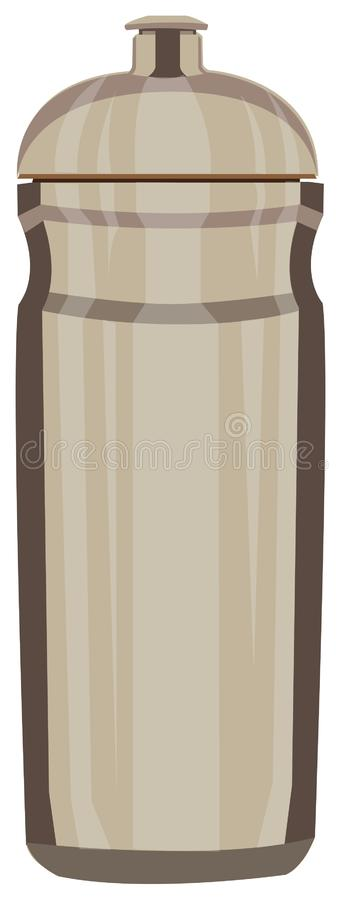 Thermos cup for hot water. Thermos for durable hot water content vector illustration