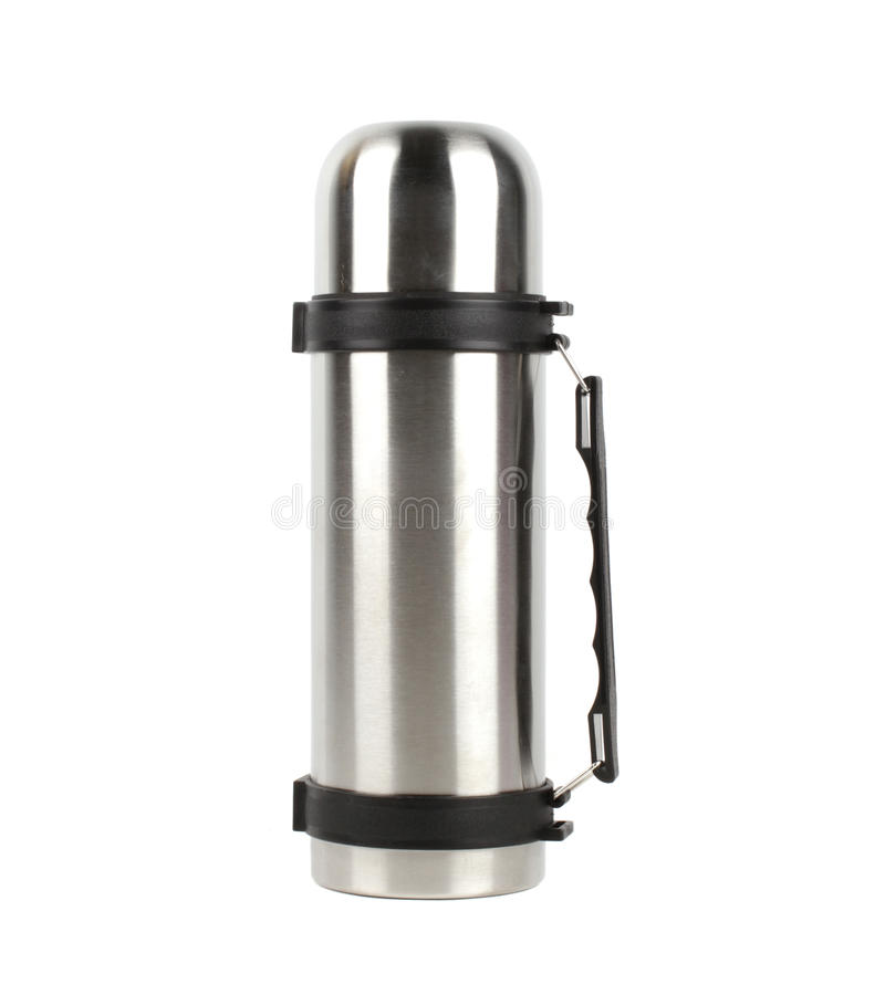 Thermos flask stock image