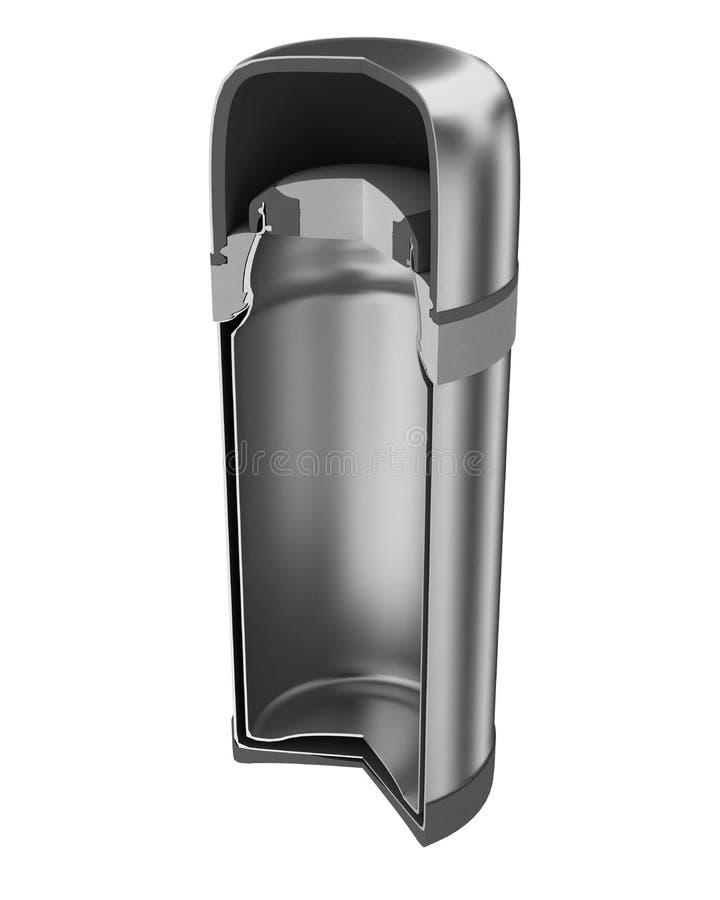 Thermos - frasco de vacío (gráfico de ensamblaje) stock de ilustración