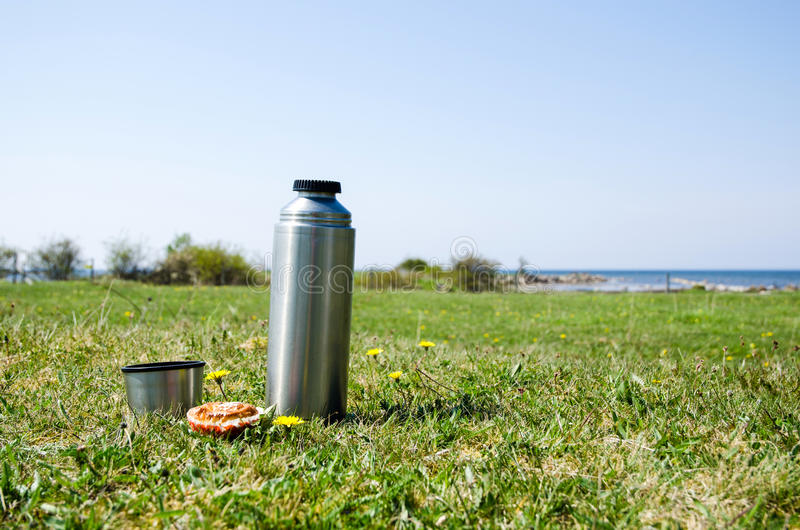 Download Thermos on grass field stock photo. Image of oland, green - 31282130