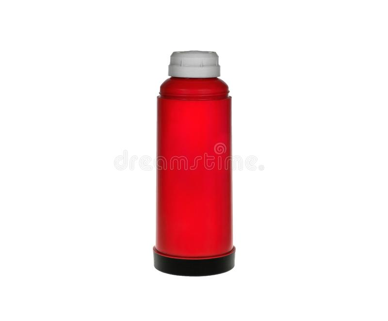 thermos rouge photographie stock