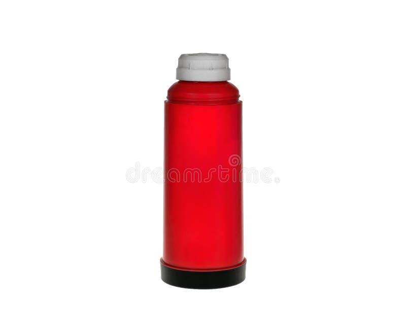 Thermos vermelho fotografia de stock
