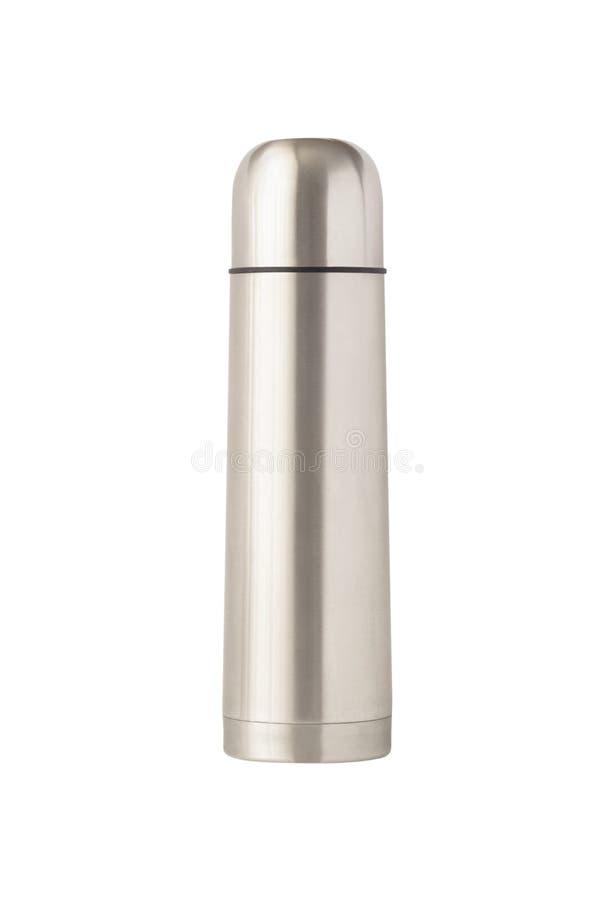 Thermosflasche oder Vakuumflasche lokalisiert stockfoto
