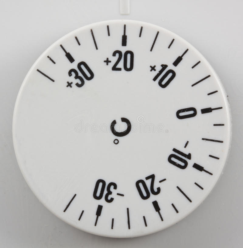 Thermostat. Set to room temperatre in celcius royalty free stock images