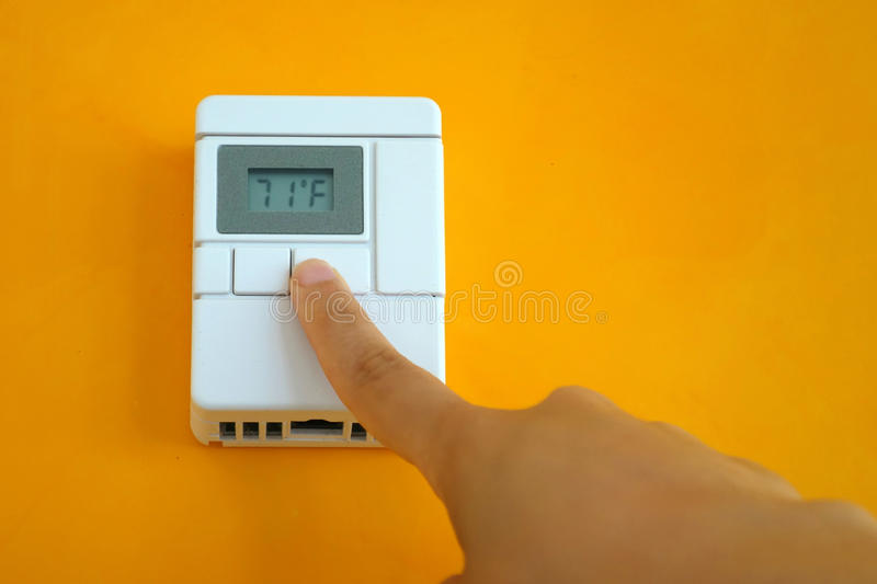 thermostat photographie stock