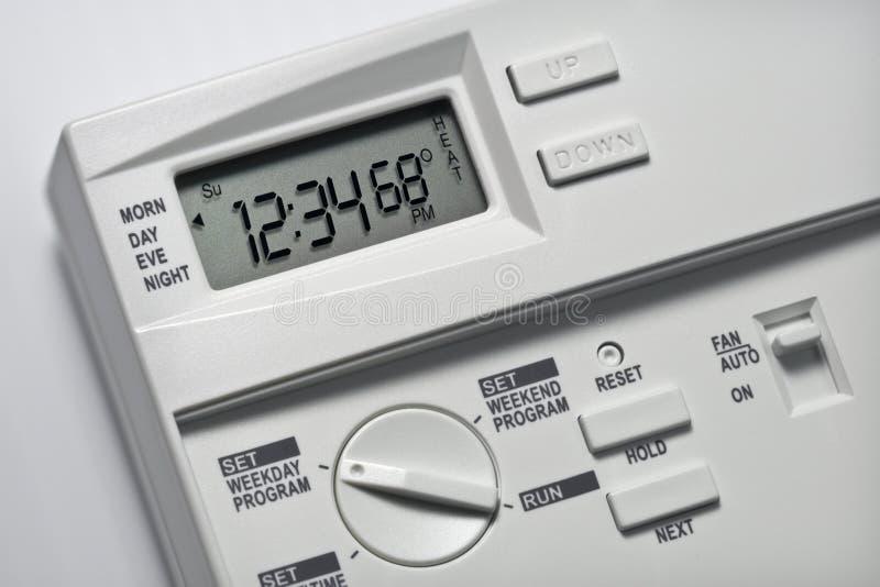 Thermostat 68 degrés de chaleur photos libres de droits