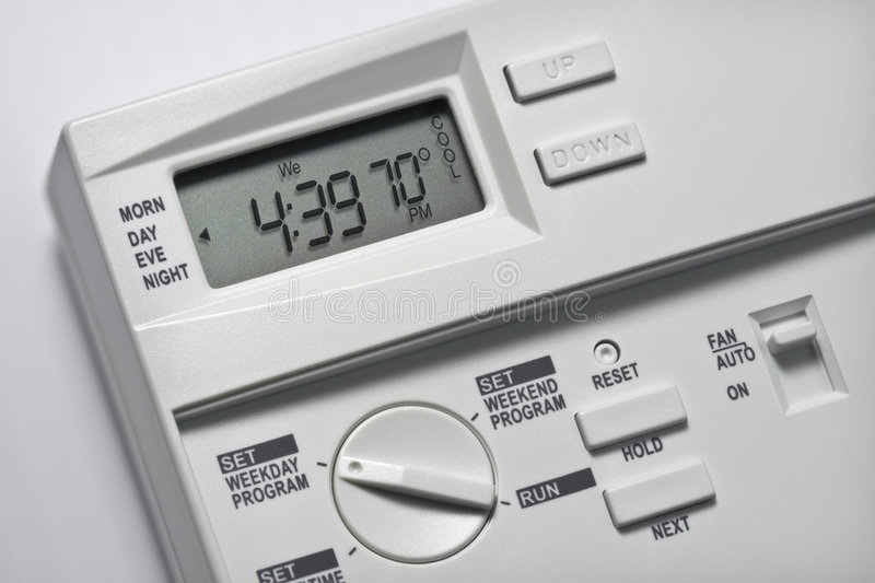 Thermostat 70 Degrees Cool royalty free stock images