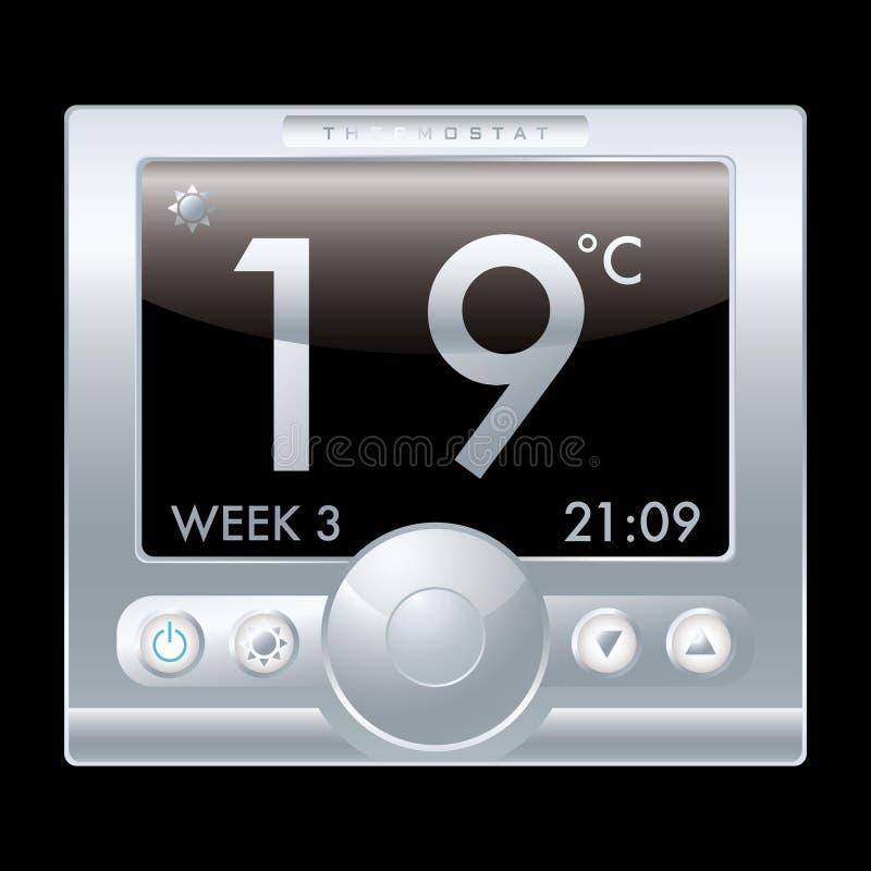 Thermostat illustration stock
