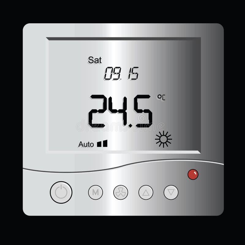 Thermostat de Digitals illustration de vecteur