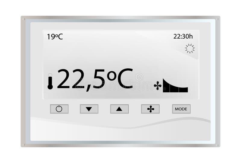 Thermostat de la température illustration de vecteur