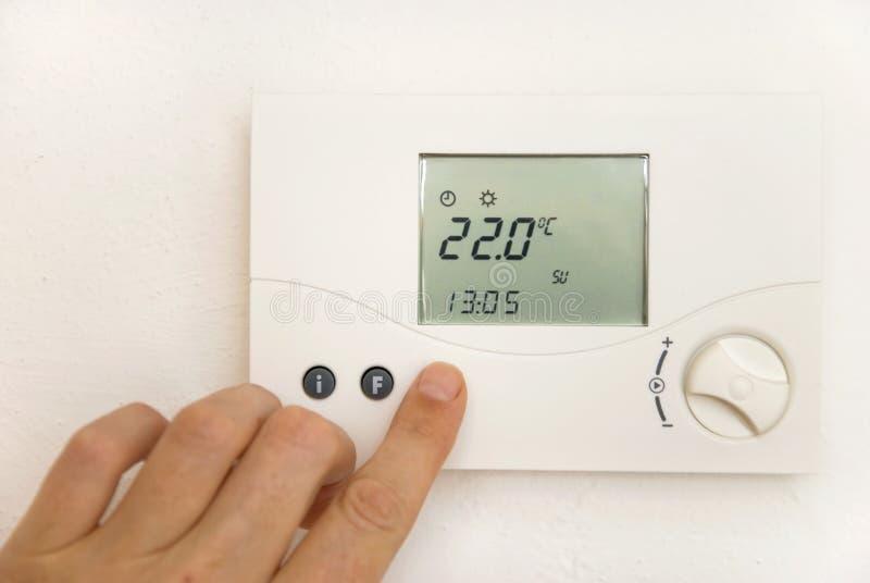 Thermostat de pièce photographie stock libre de droits