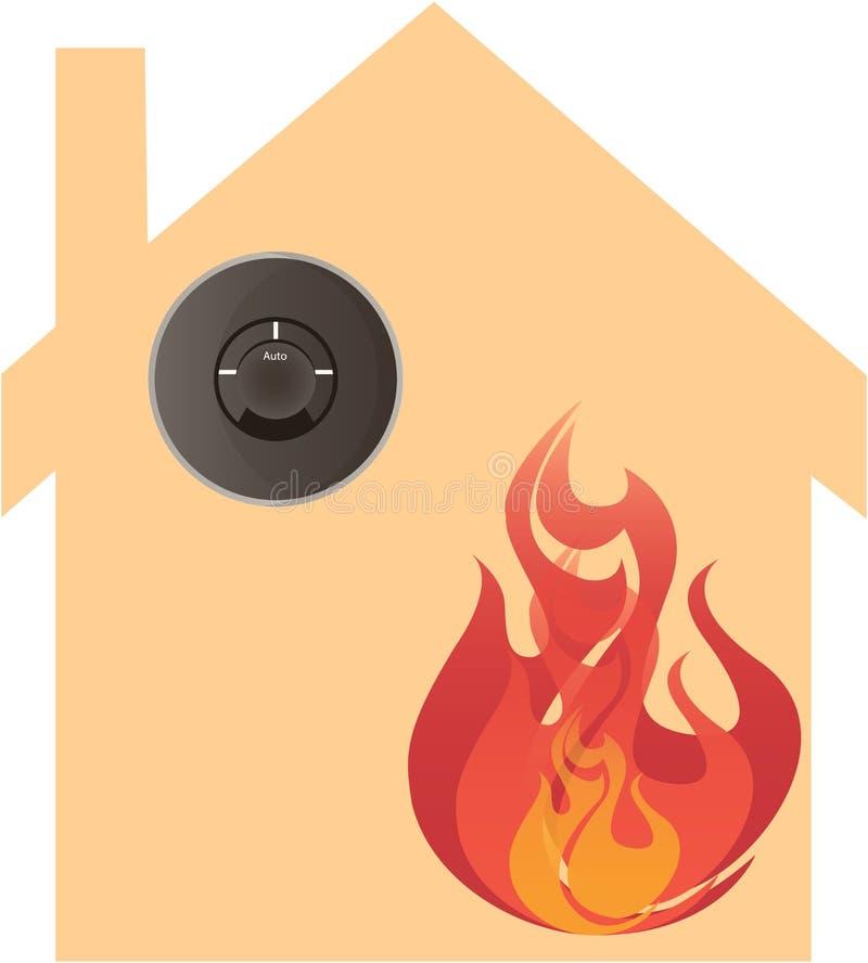 Thermostat et chauffage futés illustration de vecteur