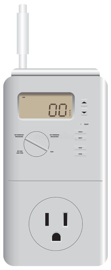 Thermostat für die Heizung und das Abkühlen vektor abbildung