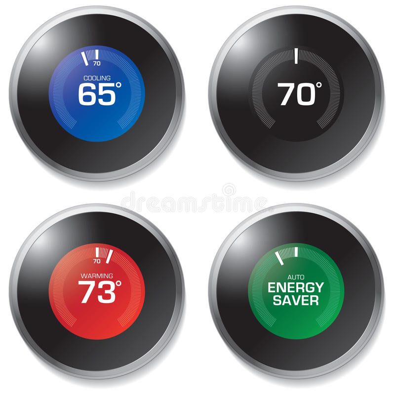 Thermostat royalty free illustration