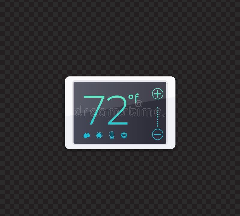 Thermostat intelligent de Digital, vecteur illustration stock