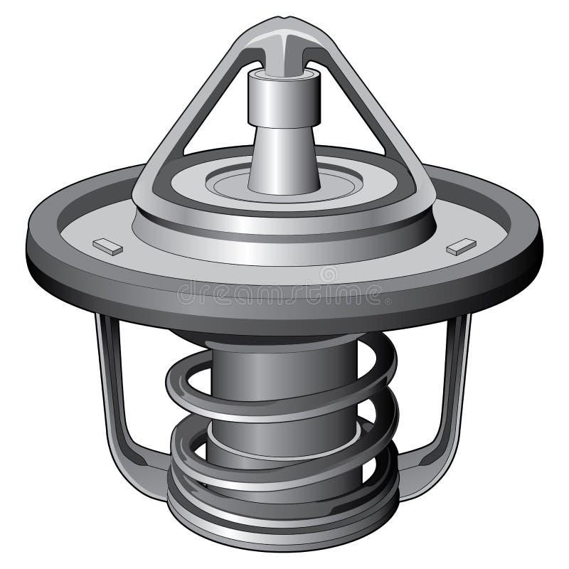 Thermostat-moteur illustration de vecteur