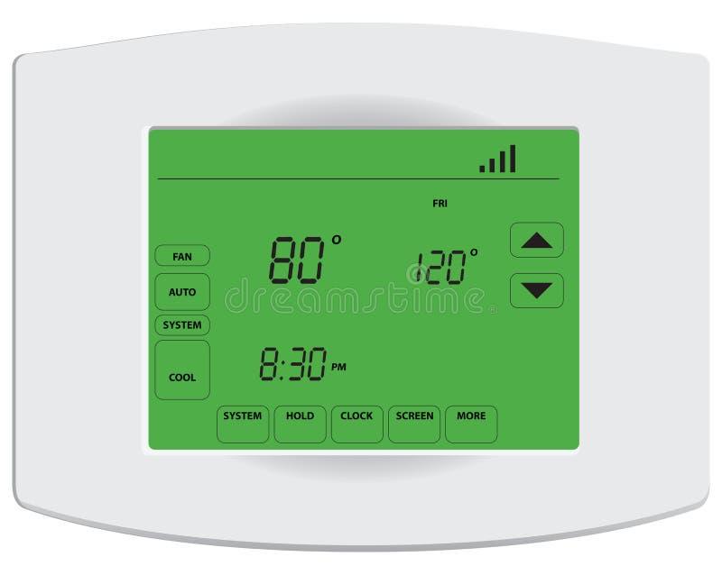 Thermostat numérique programmable illustration libre de droits