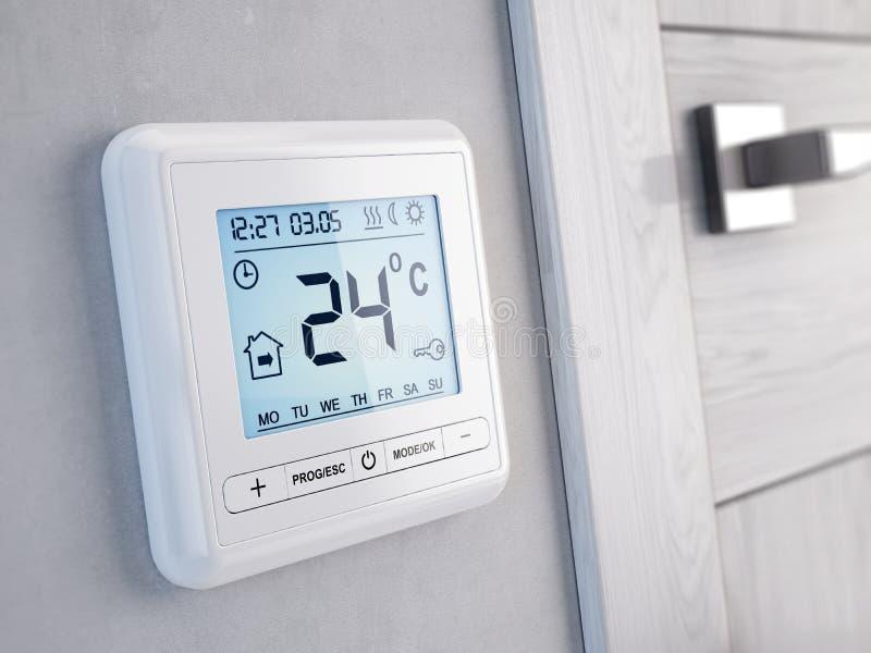 Thermostat programmable numérique moderne illustration de vecteur