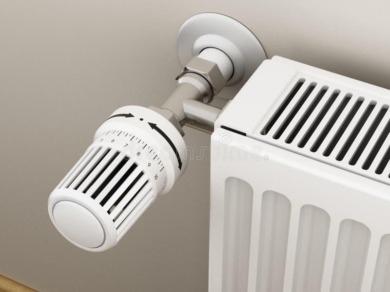 Thermostat réglable de radiateur illustration 3D illustration stock