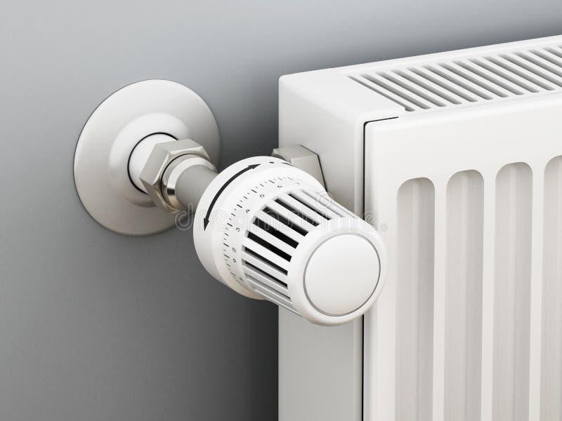 Thermostat réglable de radiateur illustration 3D illustration libre de droits