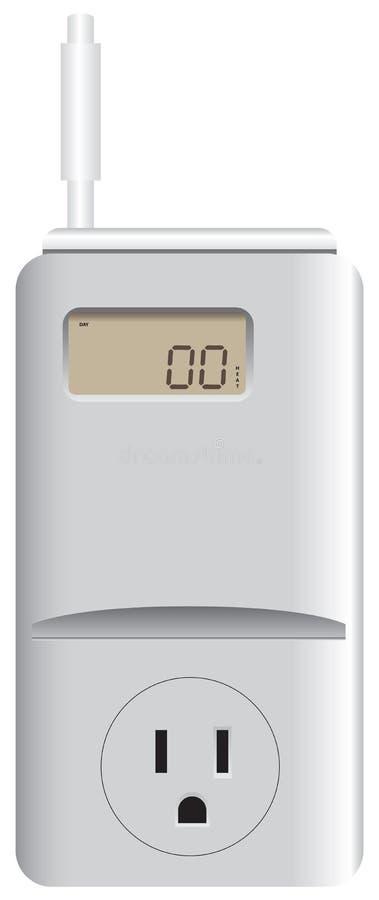 Thermostatheizung und -c$abkühlen vektor abbildung